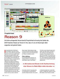 KEYS Propellerhead Reason 9