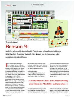 KEYS Propellerhead Reason 9