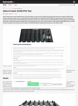 Bonedo.de Allen & Heath XONE:PX5