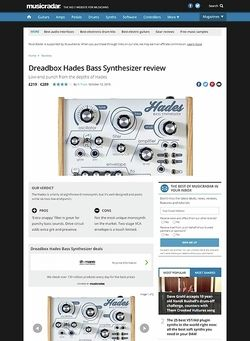 MusicRadar.com Dreadbox Hades Bass Synthesizer