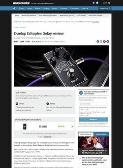 MusicRadar.com Dunlop Echoplex Delay