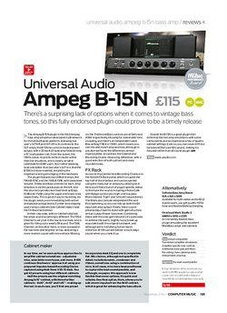 Computer Music Universal Audio Ampeg B-15N