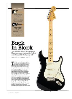 Guitarist Fender The Edge Stratocaster