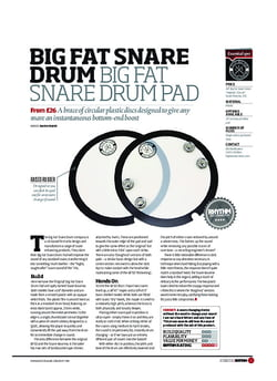 Rhythm Big Fat Snare Drum Big Fat Snare Drum Pad