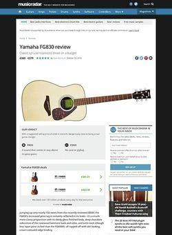 MusicRadar.com Yamaha FG830