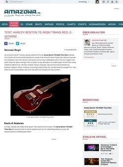 Amazona.de Harley Benton TE-90QM Trans Red, E-Gitarre