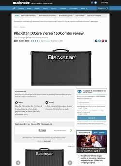 MusicRadar.com Blackstar ID:Core Stereo 150 Combo