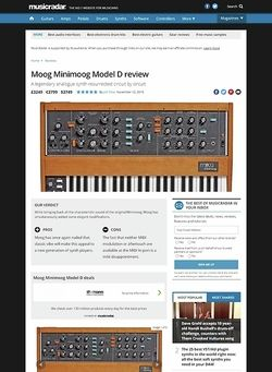 MusicRadar.com Moog Minimoog Model D