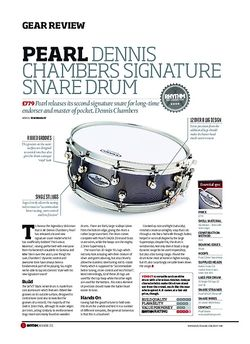Rhythm Pearl Dennis Chambers Signature Snare Drum