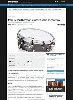 MusicRadar.com Pearl Dennis Chambers Signature Snare