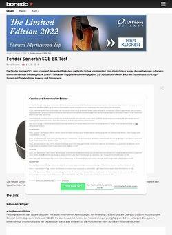 Bonedo.de Fender Sonoran SCE BK