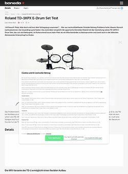 Bonedo.de Roland TD-1KPX E-Drum Set