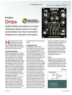 KEYS Dreadbox Modular Drips
