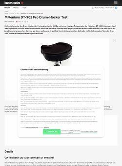 Bonedo.de Millenium DT-902 Pro Drum-Hocker
