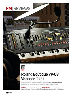 Future Music Roland Boutique VP-03 Vocoder