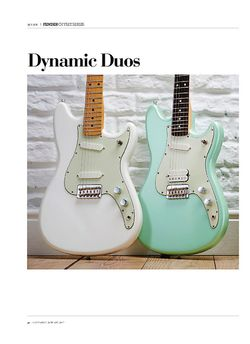 Guitarist Fender Offset Series Duo-Sonic
