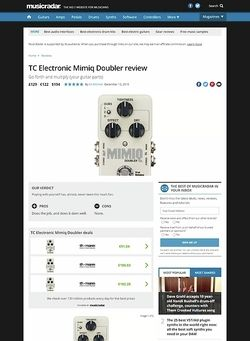 MusicRadar.com TC Electronic Mimiq Doubler