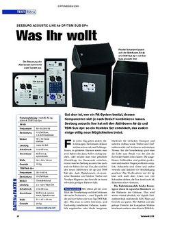 Tastenwelt Test: Seeburg Acoustic Line A6 dp/TSM Sub dp+ - Was Ihr wollt