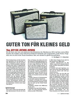 Gitarre & Bass Vox AV15G AV30G AV60G