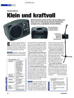 Tastenwelt Test: Mackie SRM150 - Klein und kraftvoll