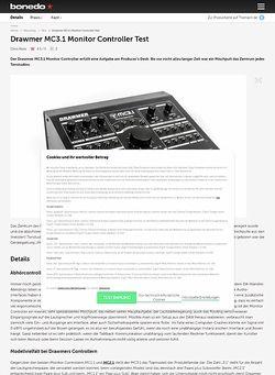 Bonedo.de Drawmer MC3.1 Monitor Controller