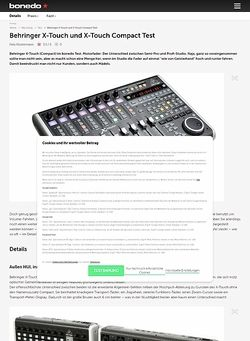 Bonedo.de Behringer X-Touch und X-Touch Compact