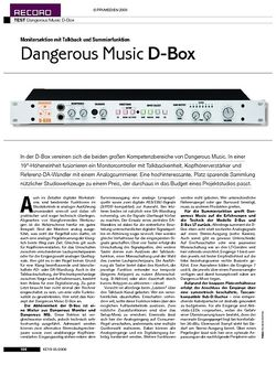 KEYS Test: Dangerous Music D-Box