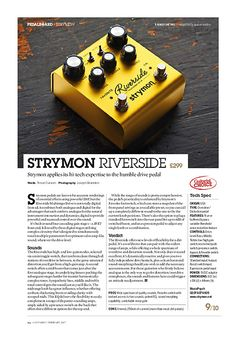 Guitarist Strymon Riverside