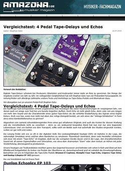 Amazona.de Vergleichstest Tape Delay Echos: Strymon El Capistan, Wampler Faux Tape Echo, Empress Tape Delay und Dunlop Echoplex EP 103