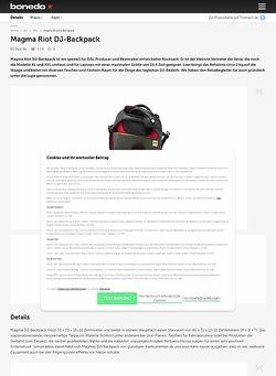 Bonedo.de Magma Riot DJ-Backpack