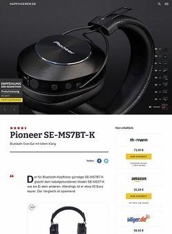 Kopfhoerer.de Pioneer SE-MS7BT-K Black