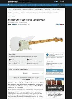 MusicRadar.com Fender Offset Series Duo-Sonic