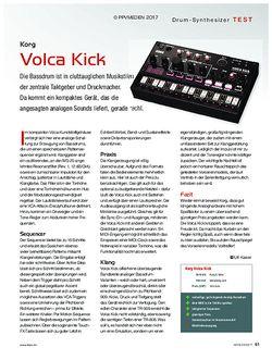 KEYS Korg Volca Kick