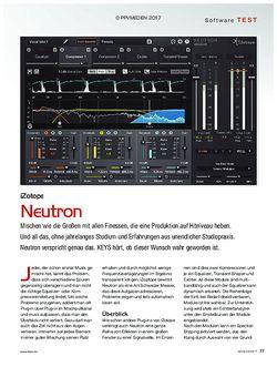 KEYS iZotope Neutron