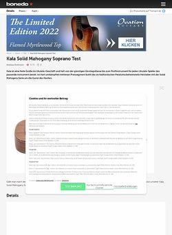 Bonedo.de Kala Solid Mahogany Soprano
