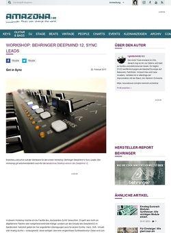Amazona.de Workshop: Behringer DeepMind 12, Sync Leads