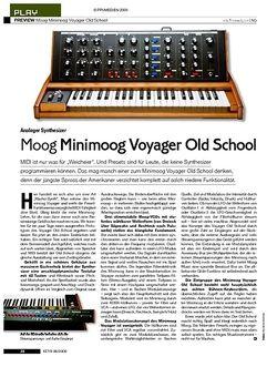 KEYS Test: Moog Minimoog Voyager Old School