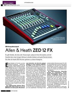 KEYS Test: Allen & Heath ZED 12 FX