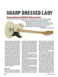 Gitarre & Bass Harley Benton TE-90FLT Deluxe Series, E-Gitarre