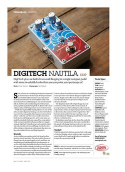 Guitarist Digitech Nautila