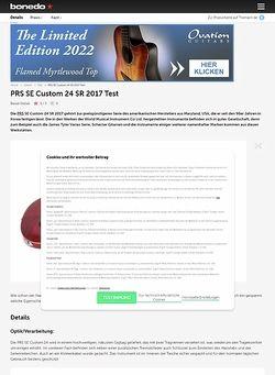 Bonedo.de PRS SE Custom 24 SR 2017