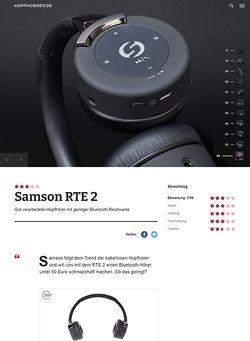 Kopfhoerer.de Samson RTE 2 Bluetooth