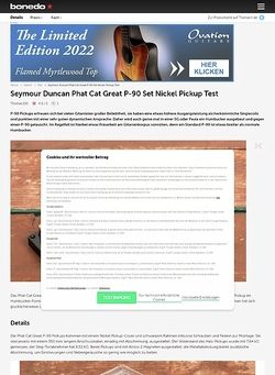 Bonedo.de Seymour Duncan Phat Cat Great P-90 Set Nickel Pickup