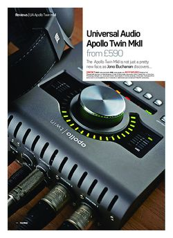 Future Music Universal Audio Apollo Twin MkII