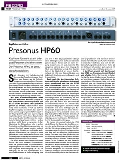KEYS Test: Presonus HP60