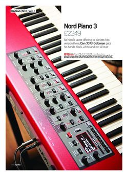 Future Music Nord Piano 3