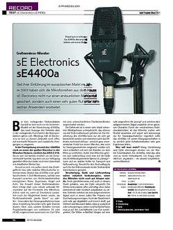 KEYS Test: sE Electronics sE4400a