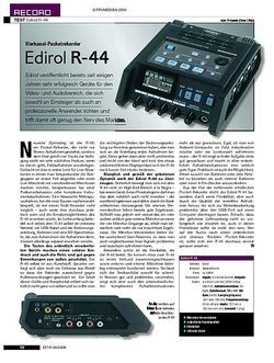 KEYS Test: Edirol R-44