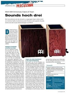 DrumHeads Instrumente & Technik: Meinl 30th Anniversary Cajons & Trejon