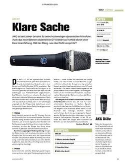 Tastenwelt Test: AKG D7 - Klare Sache